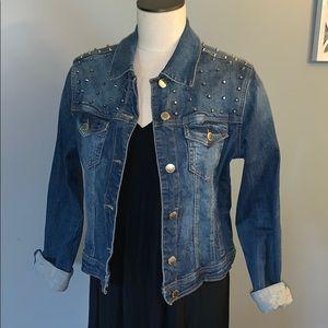 Jackets & Blazers - Metal studded jean jacket